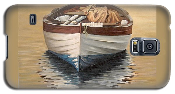 Galaxy S5 Case featuring the painting Evening Boat by Natalia Tejera