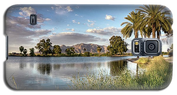 Galaxy S5 Case featuring the photograph Evening Fishing by Lynn Geoffroy