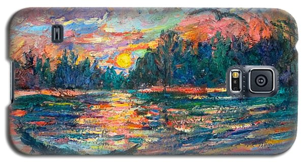 Galaxy S5 Case featuring the painting Evening Flight by Kendall Kessler
