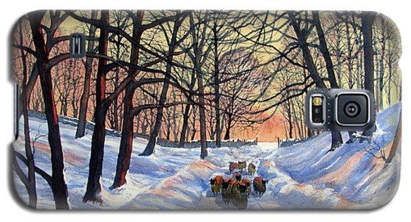 Evening Glow On A Winter Lane Galaxy S5 Case