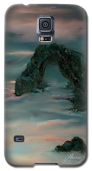Galaxy S5 Case featuring the painting Evening In Cabo by Sherri  Of Palm Springs