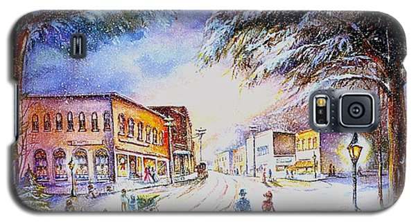 Galaxy S5 Case featuring the painting Evening In Dunnville by Patricia Schneider Mitchell