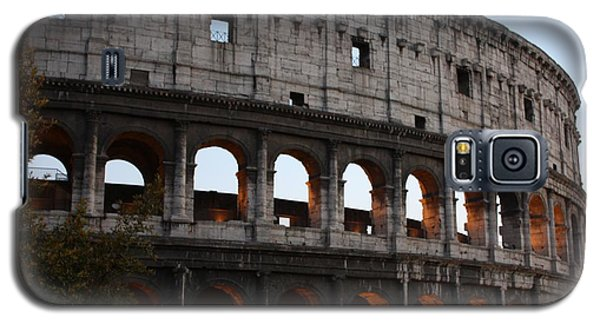 Galaxy S5 Case featuring the photograph Evening Light In Rome by Pat Purdy