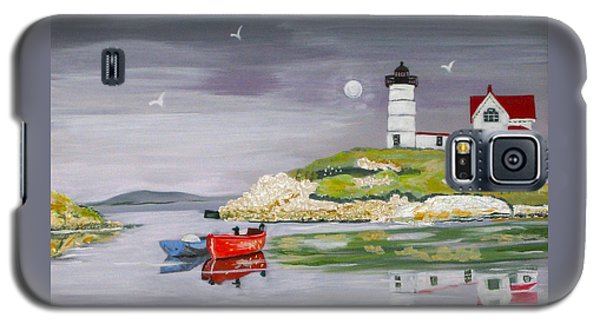 Galaxy S5 Case featuring the painting Evening Lighthouse by Phyllis Kaltenbach
