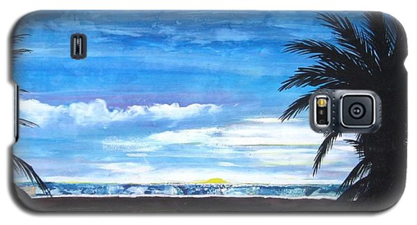 Galaxy S5 Case featuring the painting Tropical Evening by Mary Ellen Frazee