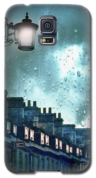 Galaxy S5 Case featuring the photograph Evening Rainstorm In The City by Jill Battaglia