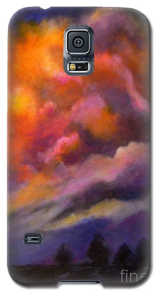 Galaxy S5 Case featuring the painting Evening Symphony by Alison Caltrider