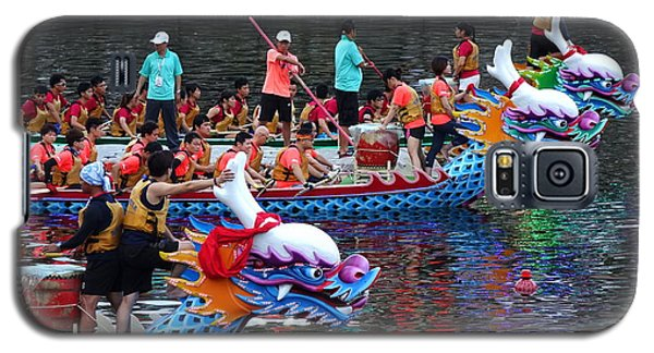 Evening Time Dragon Boat Races In Taiwan Galaxy S5 Case
