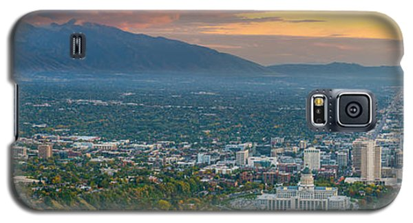 Evening View Of Salt Lake City From Ensign Peak Galaxy S5 Case