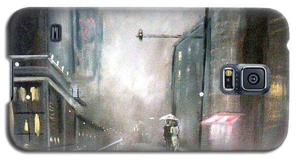 Evening Walk In The Rain Galaxy S5 Case by Raymond Doward
