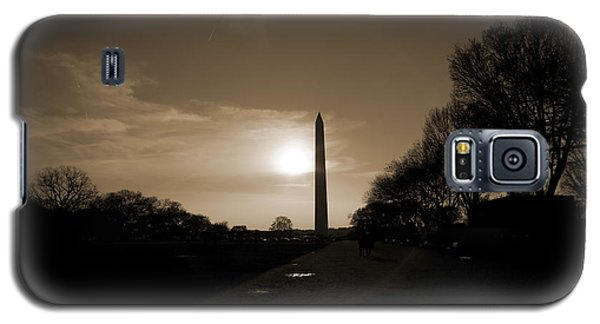 Evening Washington Monument Silhouette Galaxy S5 Case