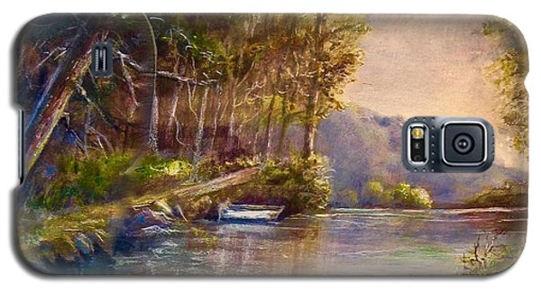 Galaxy S5 Case featuring the painting Evening's Twilight by Patricia Schneider Mitchell