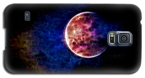 Galaxy S5 Case featuring the photograph Ever Changing Moon Color Waves by Denise Beverly