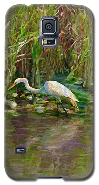 Galaxy S5 Case featuring the painting Everglades Hunter by David  Van Hulst