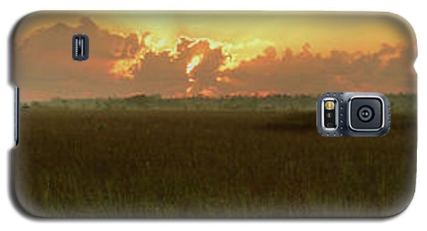 Galaxy S5 Case featuring the photograph Everglades Sunrise Panorama by Stephen  Vecchiotti