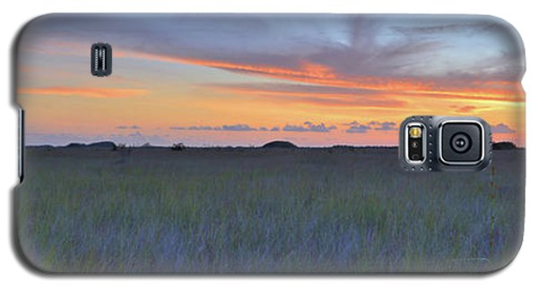 Galaxy S5 Case featuring the photograph Everglades Sunset Panorama by Stephen  Vecchiotti