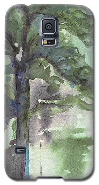 Galaxy S5 Case featuring the painting Evergreen by Dawn Derman