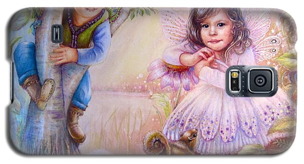Galaxy S5 Case featuring the painting Evie And Luke by Patricia Schneider Mitchell