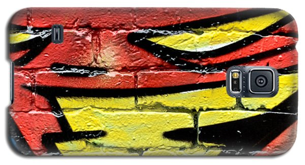 Galaxy S5 Case featuring the painting Evil Graffiti Face by Yurix Sardinelly