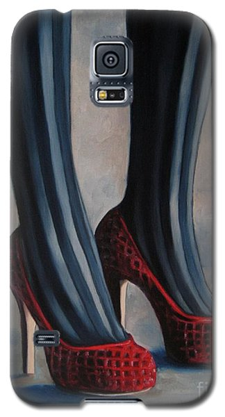Galaxy S5 Case featuring the painting Evil Shoes by Jindra Noewi