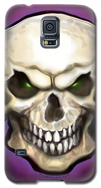 Galaxy S5 Case featuring the painting Evil Skull by Kevin Middleton
