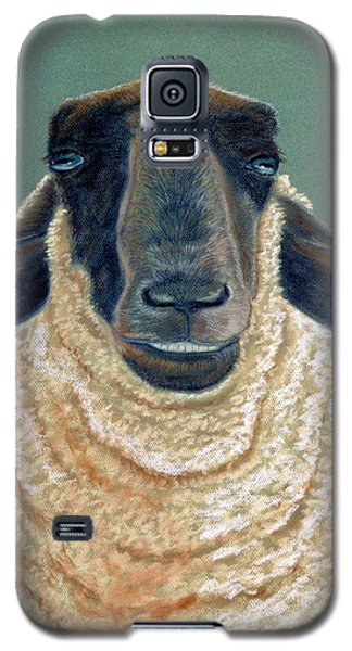 Galaxy S5 Case featuring the pastel Ewe Move Me Baby by Jan Amiss
