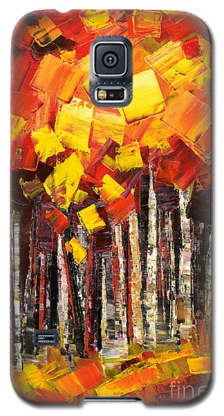 Galaxy S5 Case featuring the painting Exaltant by Tatiana Iliina