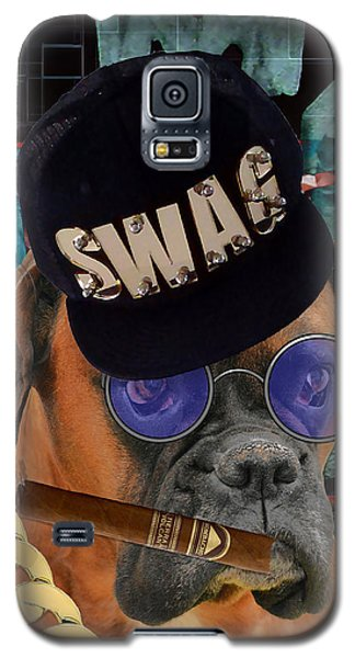 Galaxy S5 Case featuring the mixed media Executive by Marvin Blaine