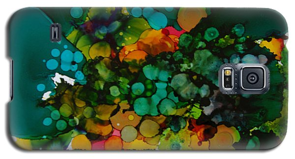 Galaxy S5 Case featuring the painting Exotic Flower # 48 by Sima Amid Wewetzer