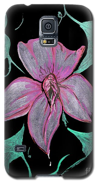 Galaxy S5 Case featuring the painting Exotic Flower by Tbone Oliver