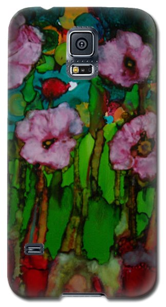 Galaxy S5 Case featuring the painting Exotic Flowers # 51. by Sima Amid Wewetzer
