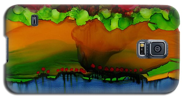 Galaxy S5 Case featuring the painting Exotic Landscape # 36 by Sima Amid Wewetzer