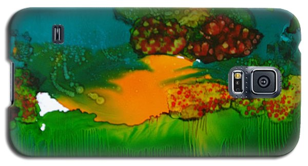 Galaxy S5 Case featuring the painting Exotic Landscape # 47 by Sima Amid Wewetzer