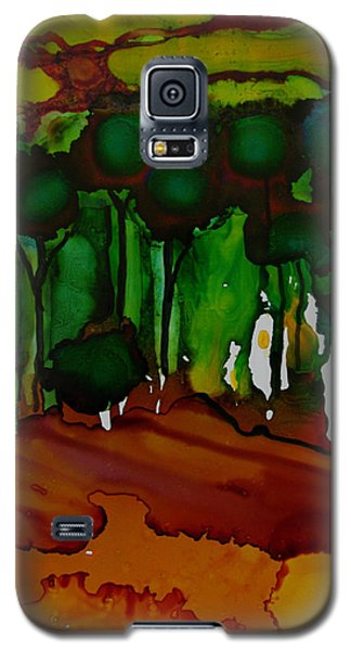 Galaxy S5 Case featuring the painting Exotic Landscape # 74 by Sima Amid Wewetzer