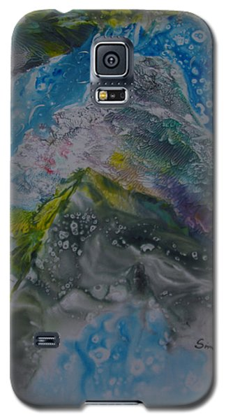 Galaxy S5 Case featuring the painting Exotic Landscape # 76 by Sima Amid Wewetzer