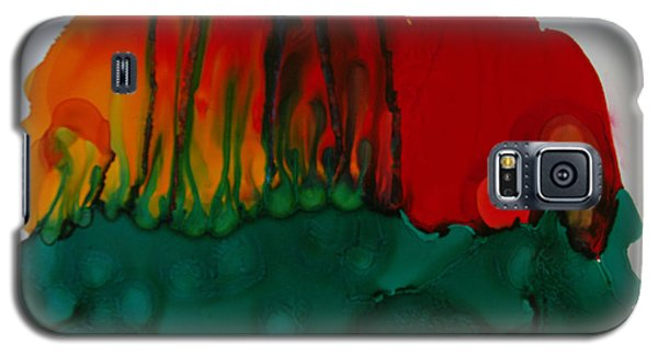 Galaxy S5 Case featuring the painting Exotic Nature # 56 by Sima Amid Wewetzer