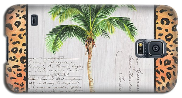 Cheetah Galaxy S5 Case - Exotic Palms 1 by Debbie DeWitt