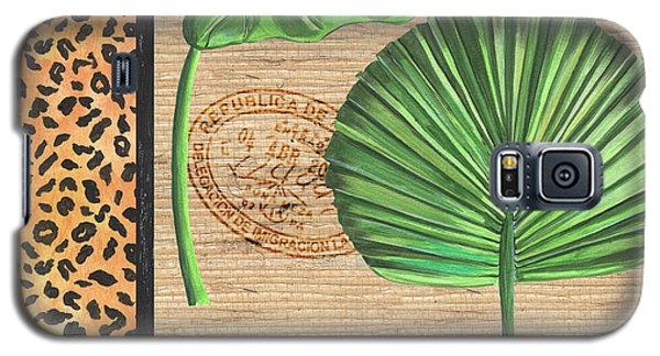 Cheetah Galaxy S5 Case - Exotic Palms 2 by Debbie DeWitt