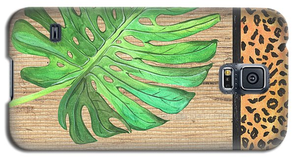 Cheetah Galaxy S5 Case - Exotic Palms 3 by Debbie DeWitt