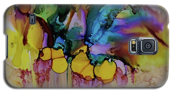 Galaxy S5 Case featuring the painting Explosion Of Petals by Joanne Smoley