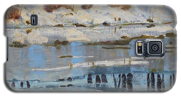 Galaxy S5 Case featuring the painting Extra Thin Ice by Len Stomski