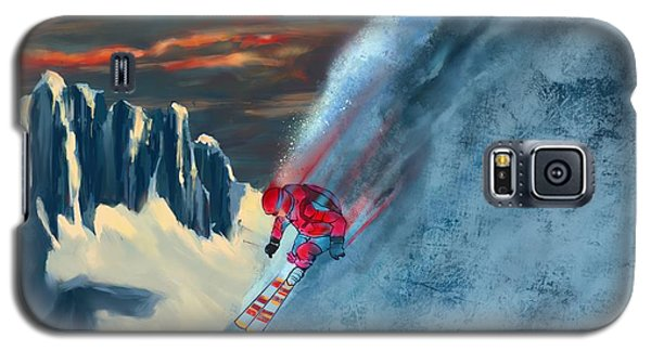 Extreme Ski Painting  Galaxy S5 Case