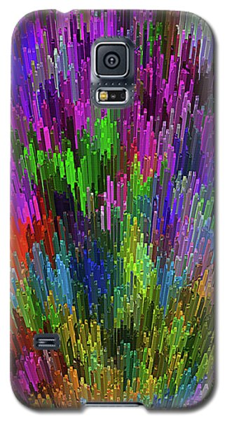 Galaxy S5 Case featuring the digital art Extruded City Of Color By Kaye Menner by Kaye Menner