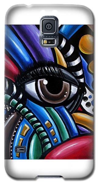 Eye Am - Abstract Art Painting - Intuitive Art - Ai P. Nilson Galaxy S5 Case