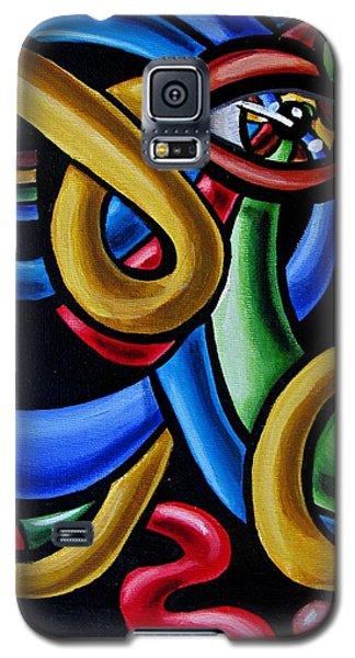Colorful Illusion Optical Eye Art Painting Chromatic Art - Multicolor Chromatic Energy Flow Art  Galaxy S5 Case