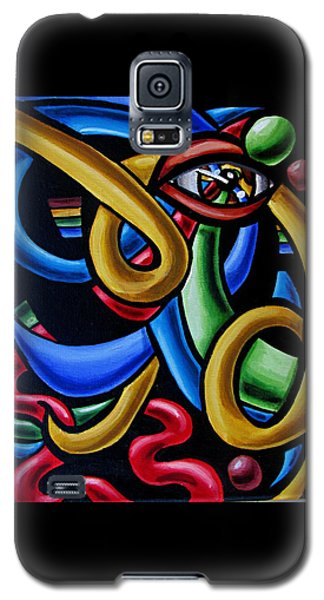 Eye Art Print Chromatic Abstract Art Painting Colorful Optical Artwork  Galaxy S5 Case