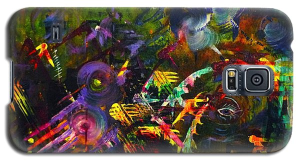 Galaxy S5 Case featuring the painting Eye In Chaos by Claire Bull
