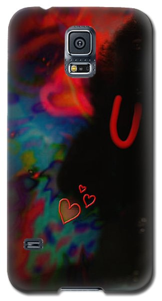 Galaxy S5 Case featuring the mixed media Eye Love U by Kevin Caudill