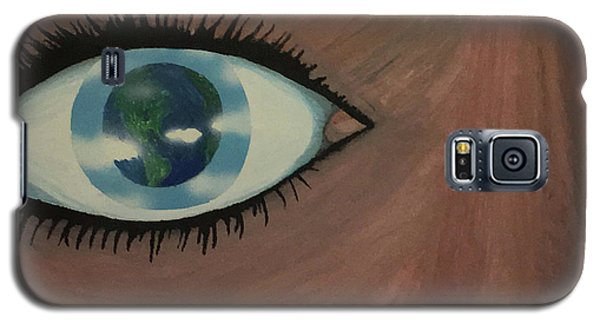Galaxy S5 Case featuring the painting Eye Of The World by Thomas Blood
