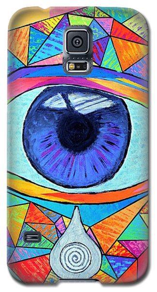 Eye With Silver Tear Galaxy S5 Case by Jeremy Aiyadurai